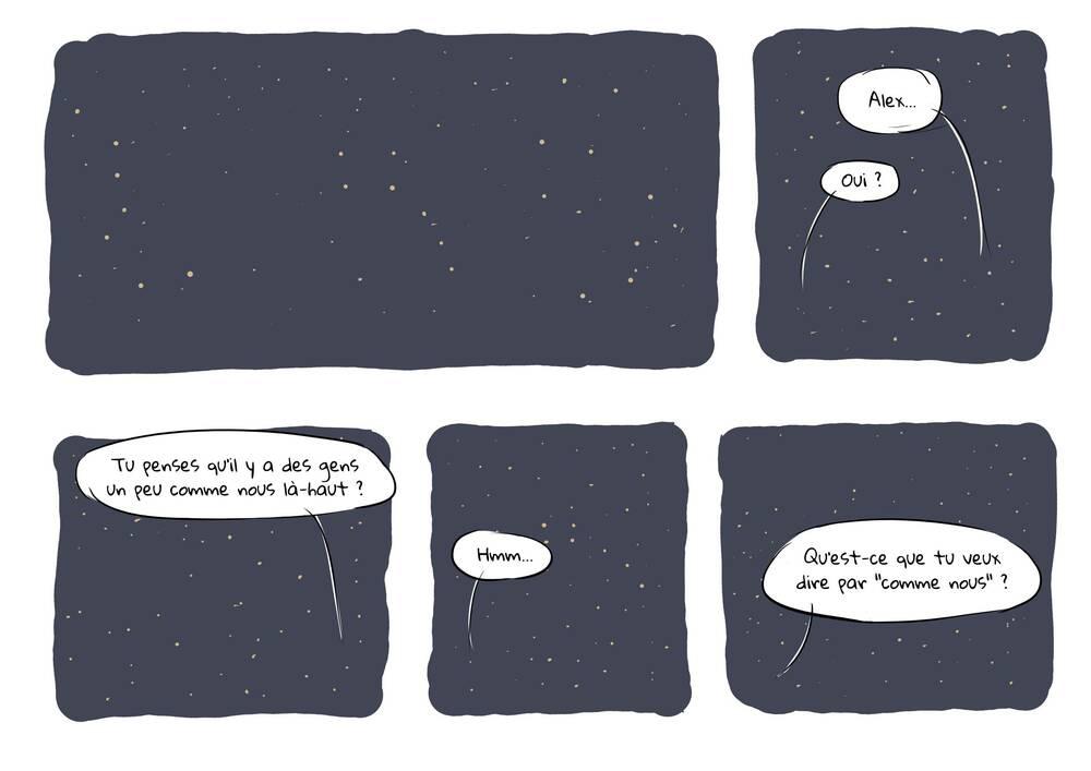 On ne voit que des étoiles et Nicole demande à Alex